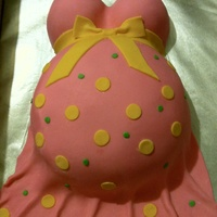 Natasha's Belly Cake   Another belly cake, strawberry cake w/ bc and mmf