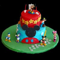 Mickey Mouse Mickey Mouse Clubhouse birthday cake for my son's 2nd birthday