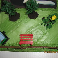 60Th Birthday This was done for a 60th birthday party. He loved doing yardwork, so we went with an outdoor scene. All just regular frosting, the...