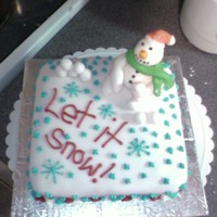 Snow Man X-Mas Cake Fondant and icin did this for my mom got a lil idea on here