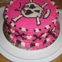 Skull Cake all done by hand and just icein