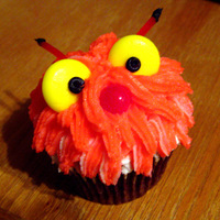 Monster Cupcake! Cupcakes decorated for Wilton Class