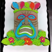 Colorful Tiki Cupcake Cake 24 Cupcakes all Buttercream Frosting. Inspired by the many wonderful artists here on CC :)