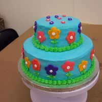 3Rd Wilson Class Cake the class was calling this my Hippy Cake!!! Everyone loved the colors. It was so easy to make!! On to class 4!