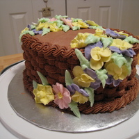 Basket Weave And Flowers