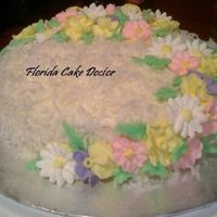 Coconut And Flowers This is a coconut cake through and through! I made it for a family friend who is obsessed with coconut cake. Her birthday was during spring...