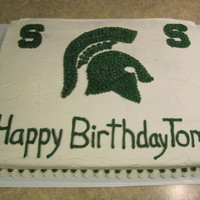 Msu Cake   Birthday cake for a Michigan State fan.