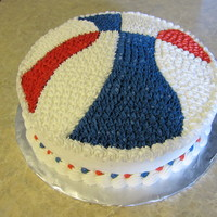 Red White And Blue Basketball Birthday cake for a 10 year old boy