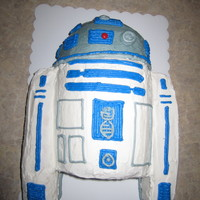 R2D2 Birthday Cake  My 7 year old nephew requested an R2D2 cake for his birthday since he is a huge star wars fan. He was pretty happy with this. Thanks for...