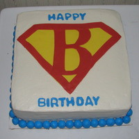 Superman   wanted a 'B' superman cake. 10 in choc
