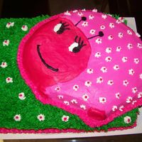 Lady Bug This cake was for a 1st birthday. Lady bug is chocolate and the bottom cake is strawberry.