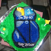 Golf Bag Cake   This cake was for a man who turned 60 and he loves playing golf.