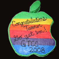 Apple - Graphic Design Graduation Cake   This was for a graphic-design graduate, the Apple-logo original design