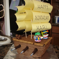 Pirate Ship Pirate ship cake that I made for my son's 5th birthday.