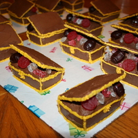 Treasur Chests Treasure chest cupcakes that I made for my son's 6th birthday.