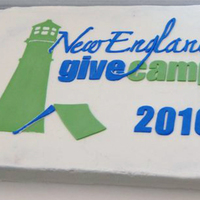 Give Camp Really a corporate event cake. The logo was created by cutting fondant and placing on the cake.