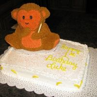 Going Banana's This was for a little's boy's first birthday. He loves everything monkey and banana! The monkey was done using a bear mold. I...