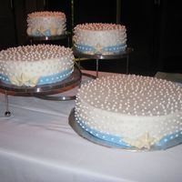 Nontraditional Lake Wedding This nontraditional wedding cake was for a couple that loved polka dots. They were getting married on the lake so they wanted a very...
