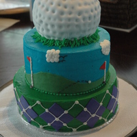 Golf Cake Cake for a local golf course as they held their year end party