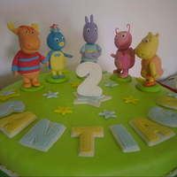 Backyardigans Cake   Decorated with fondant, and marzipan figures. tfl