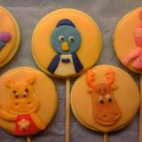 Backyardigans   butter cookies, decorated with glase, and fondant