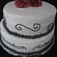 Black On White Scroll Another practice cake.