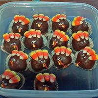 Turkey Truffles   I made these for a Thanksgiving get-together. While not really a cake, I still wanted to share them.