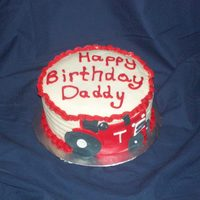 Red Tractor Birthday Cake For A Dad My friend wanted a cake for her father and said he loved red tractors- not john deere green ones. Small 6 in cake
