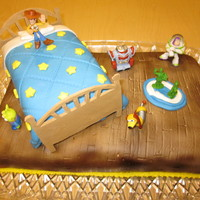 Toy Story Cake Made this for my nephew's second birthday using several different pictures from this site. The characters are toys. Everything else is...