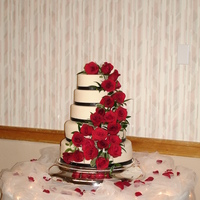 Rose Wedding Cake This cake was covered with 24 roses