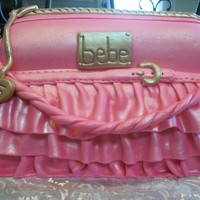 Bebe Ruffled Handbag