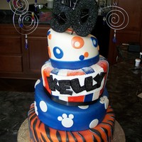 Memphis Tigers/ 50Th Birthday Cake