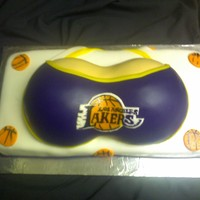 Laker Boobs   All cake and fondant :)