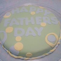 Fathers Day This was my 2nd MM fondant cake. 12in round marble chocolate/white cake. Thanks for looking :-)