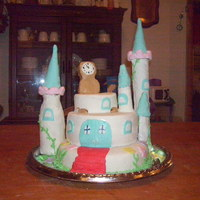 Princess Castle Cake This is my attempt at a castle cake. It was for my little princess's b-day on Sunday. It's Strawberry cake with twinkie with...