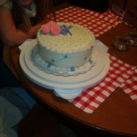 Im000621.jpg This the first cake I have decorated. Took my cake class at a local bakery and loved it. My cake won second place. Please everyone tell me...