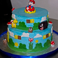 Mario Bros Cake Customer wanted a mario bros cake like one she saw online.