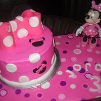Minnie Mouse Birthday Simple Minnie Mouse cake for my daughters 3rd birthday. Frosted in BC, all decorations are fondant