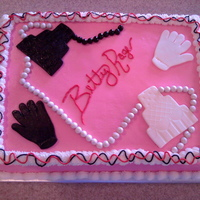 Pink Production For a production party for the play, 5 Women Wearing the Same Dress. Buttercream with marshmallow fondant. The goofy font was intentional...