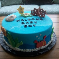 Ocean Life Once again, love it when paeople give me invitations and decorations to base a cake off of.