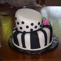 Black And White Topsey Turvey My second ever topsey turvey! Thanks to this site i DID IT!!!! Thanks. all fondant covered. just chocolate and white cakes. My daughter...