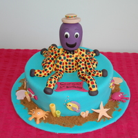 Henry The Octopus Cake I thought this would be a chalenge this cake, because henry is plaid, but it wasn't hard. I love it!