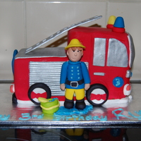 Fireman Sam Cake I made this for my cousin's little boy. Fireman sam's number 1 fan! He loved it