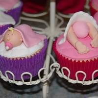 Girl Baby Shower Cupcakes These are little cupcakes I made for a friends baby shower. She knew she was having a girl.