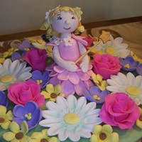 Fairy Flower Garden This was a topper for my granddaughter's birthday cake. I've lost the downloads for the completed cake and will add them if I can...