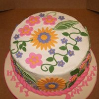 Fun Flowers This was a quick, birthday cake for a family friend's daughter. I didn't have as much time as I would have liked to work on it ,...