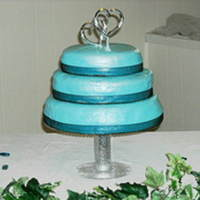 Weddng Cake Hazelnut cake filled with hazelnit filling, covered in RBC and this was my first cake covered in RBC