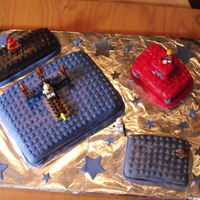 Star Wars Lego Cake   Chocolate cake covered in MMF:)))