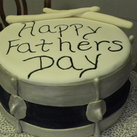 Father's Day Made this cake for my husband for Father's Day. WASC with whipped white chocolate filling and buttercream frosting, covered in fondant...