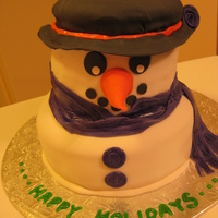 Frosty The Snowcake! This cake is a coconut chocolate cake, I made it for my students in school and they loved it. They were actually very sad when we had to...